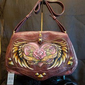 Isabella Fiore Live to Love Bridget bag Plum NWT